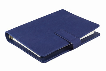 Dark blue colored organizer book