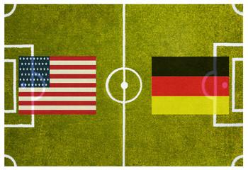 WM 2014 Gruppenspiel USA gegen Deutschland