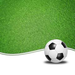 Fußball mit Rasen-Hintergrund
