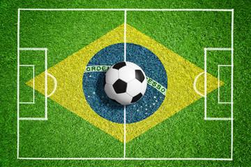 Spielfeld zur WM in Brasilien