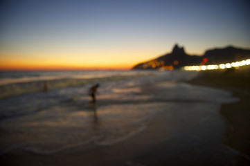 Defocus Rio Sunset Silhouette Two Brothers Ipanema Brazil