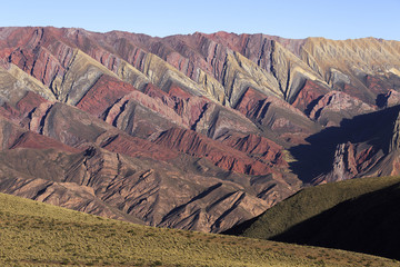 Mountain of fourteen colors, Quebrada de Humahuaca, Northern Arg