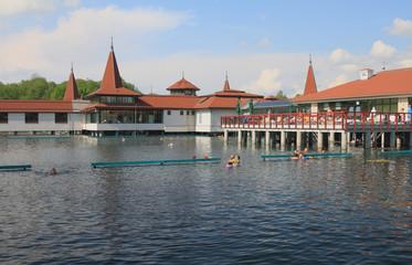Popular balneal resort. Lake Heviz, Hungary
