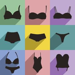 Underwear flat icons