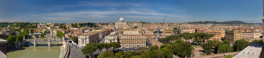 Panorama of Rome and Vatican from Castel Sant'Angelo