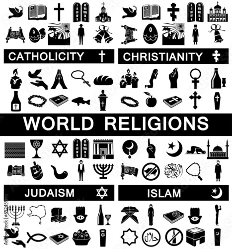 Icons for World Religions - 65245973