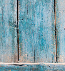 old wooden background painted with blue paint