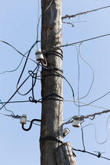 wooden pole electricity