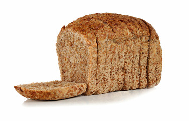 Slices of bread with bran