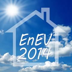 Haus mit Wolken und Himmel und EnEV 2014