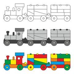 Spielzeugeisenbahn - Eisenbahn - Zug - Lok ~ Megaset