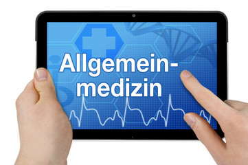 Tablet mit Interface und Allgemeinmedizin