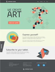 Editable web template - flat art design