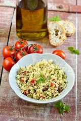 Fresh Arabian tabouleh, tabbouleh with couscous,  vegetables