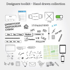 Hand drawn mockup graphics