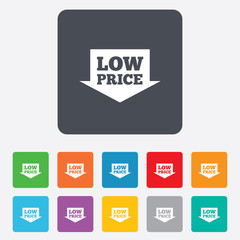 Low price sign icon. Special offer symbol.