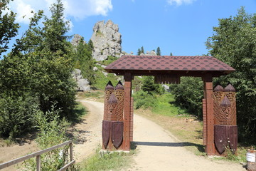 Rock wooden fortress Tustan