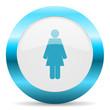 female blue glossy icon