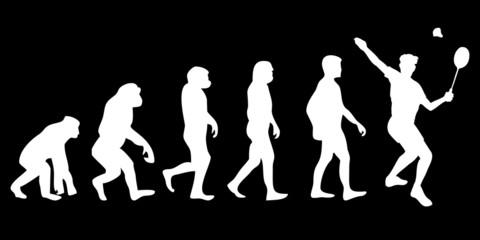 Vom Affen zum (Menschen) Badminton Spieler