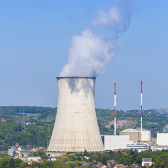 Nuclear Power Station at the city tihange