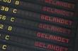 Leinwanddruck Bild - Anzeigetafel am Flughafen