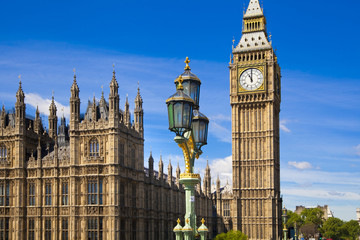 Big Ben and Houses of Parliament, London UK