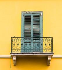 Balcony in Greece.