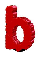 kırmızı b harfi