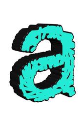 açık mavi a harfi