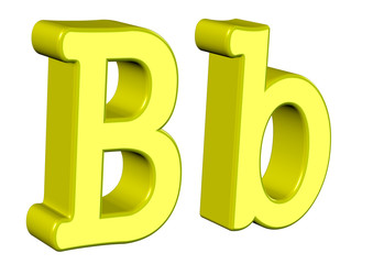 sarı b harfi tasarımı