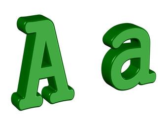 yeşil renkli a tasarımı