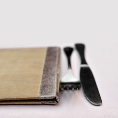 menu fork and knife