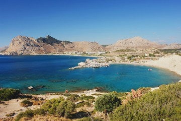 View of the coast in Kolymbia, Rhodes