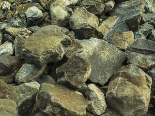 Textura de piedras partida, albardón.
