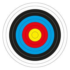 Colorful bullseye target