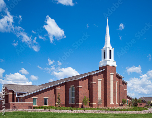 Tuinposter Bedehuis Mormon church