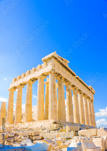 Staande foto Athene the famous Parthenon temple in Acropolis in Athens Greece