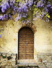 Fairy entrance of a tuscan villa