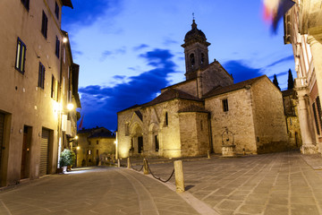 The tuscan city of San Quirico d'Orcia