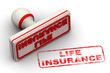 Life insurance. Seal and imprint