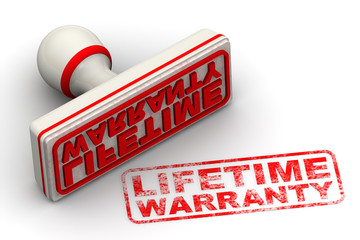Lifetime warranty. Seal and imprint