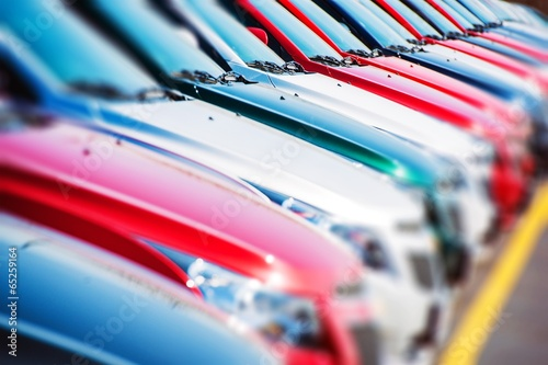 canvas print picture Colorful Cars Stock