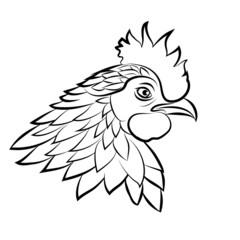 Line art of cock