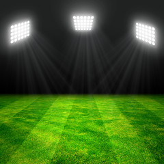 soccer stadium with the dright lights.