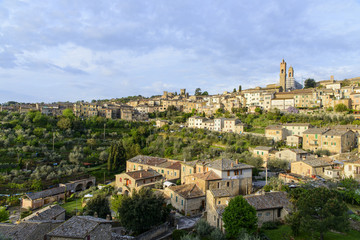 Panoramic view of Montalcino