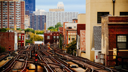 Chicago Train Tracks Urban