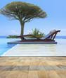 piscine provençale à débordement