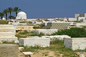 Arabic cemetery in Monastir, Tunisia