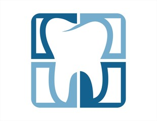 logo dental tooth symbol dentistry icon