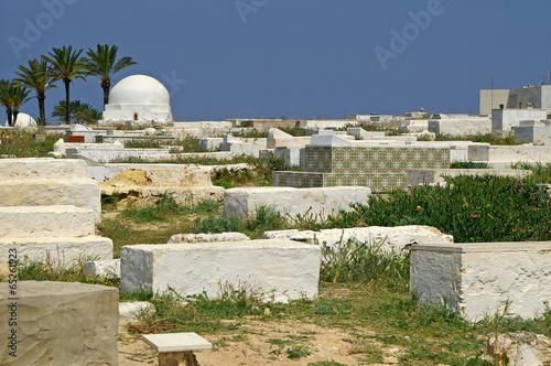 Fotobehang Tunesië Arabic cemetery in Monastir, Tunisia